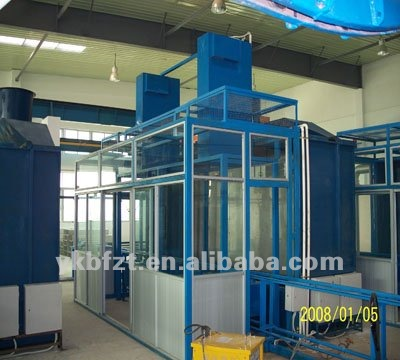 Steel drum production line - Outside paint spraying room for steel drum making machine or barrel machine