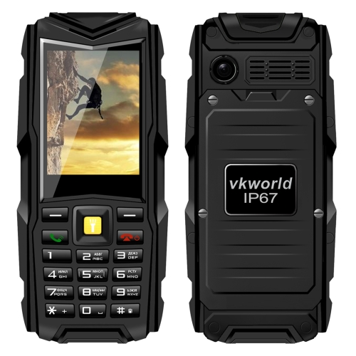 In Stock VKWorld Stone V3 IP67 Mobile Phone, with Russian Keyboard, 5200mAh Battery, 2.4 inch Dual SIM, Network: 2G