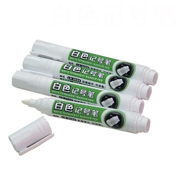 logo printed quick dry white ink permanent marker pen for shoe marking