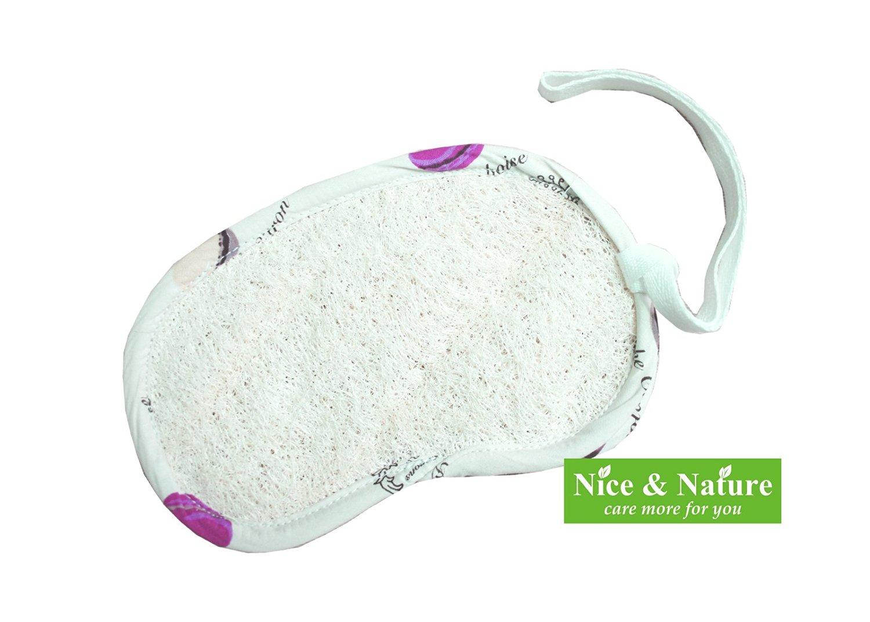 Get Quotations · Exfoliating Loofah Soap Saver Pouch, Nice Loofah, Soap  Saver Bag, Loofah Pad Soap
