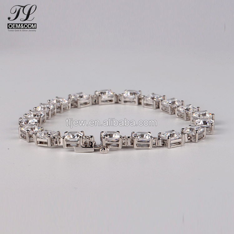 Customized Tennis Bracelet Extender Cubic Zirconia Bangles For Women
