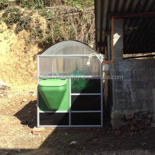Sunrise 5m3 small portable biogas anaerobic digester reactor for home waste treatment