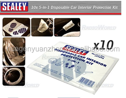 Universal disposable plastic indoor garage clear car cover
