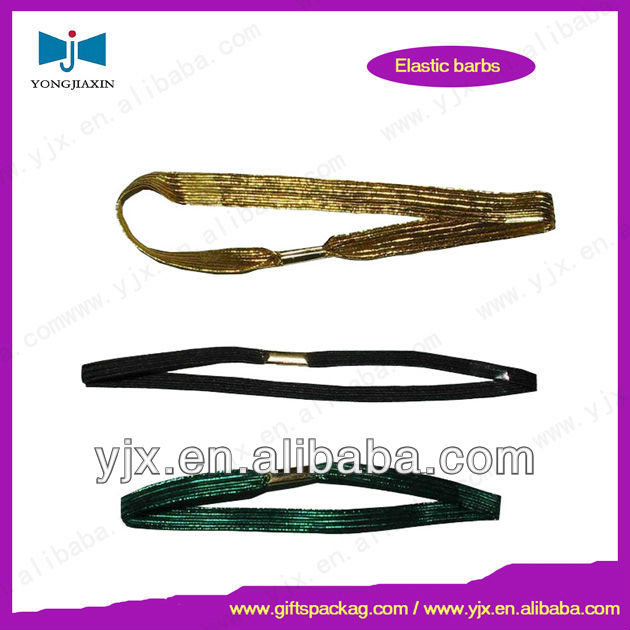 metallic hair elastic band loop