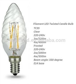 Ce Rohs Led Twisted Kerze Lampen Tc35 2 W 4 W 220 240v110 130v Led