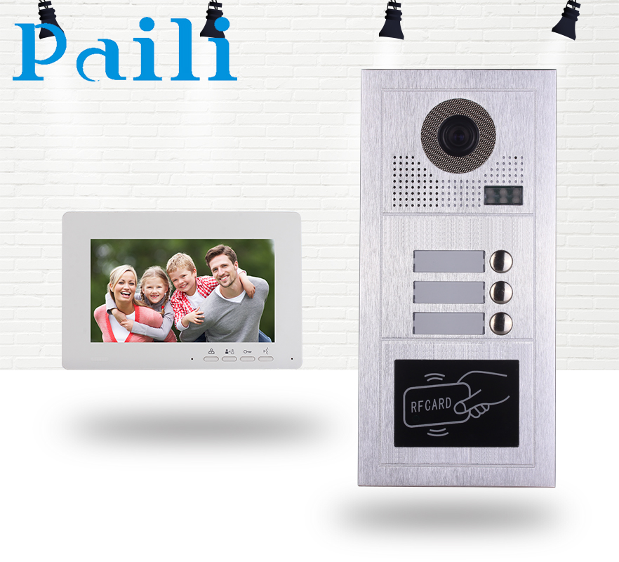 Paili Wired Video Doorbell interphone wired video door phone, intelligent home security systems