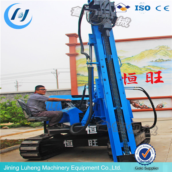 Solar system crawler post ramming pile machine made in china - LUHENG