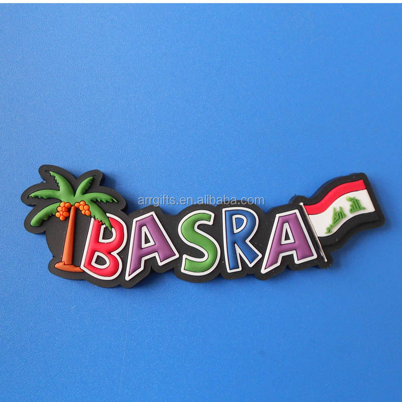 BASRA Rubber Letters Fridge Decor Soft Magnet, Iraq