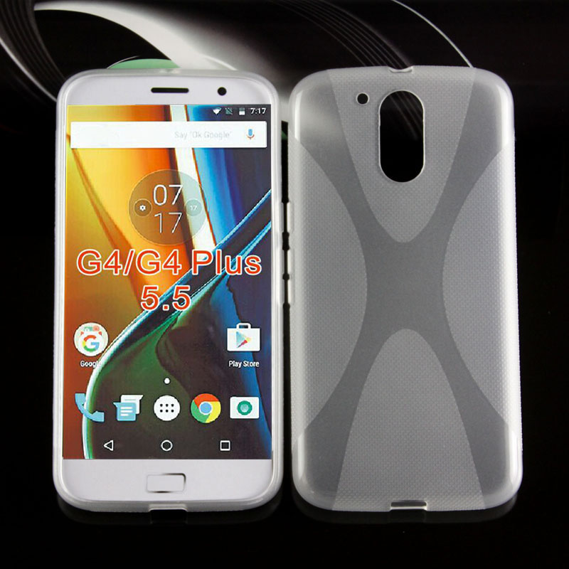 New X model matte sides tpu case for Motorola G4 plus soft Matte pudding case for moto g4 plus 5.5 inch