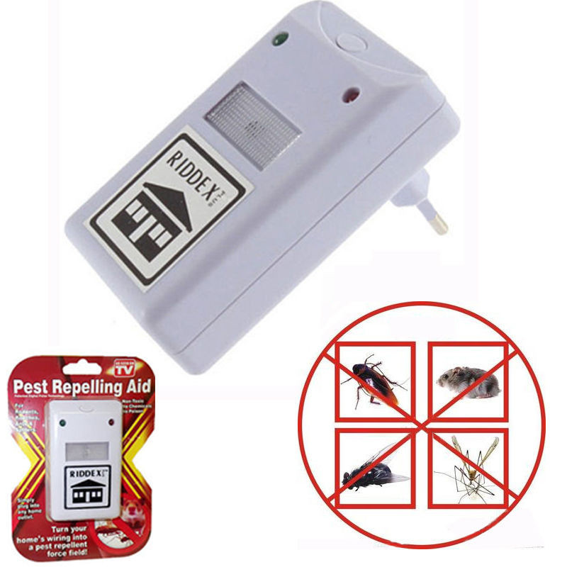 New Riddex Plus Pest Repellent Repelling Aid for Rodents Roaches Ants Spiders EU/US