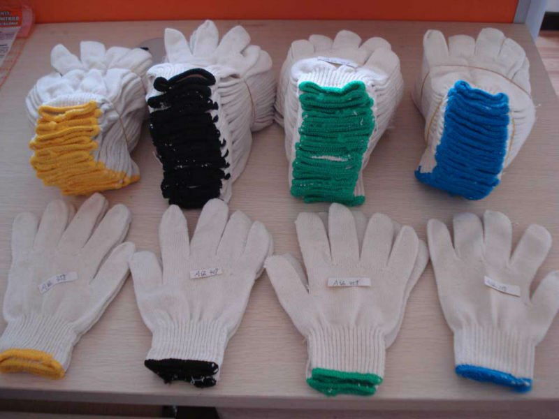 10-GAUGE COMPUTER MACHINE KNITTED COTTON GLOVES Exported to JAPAN/South Korea