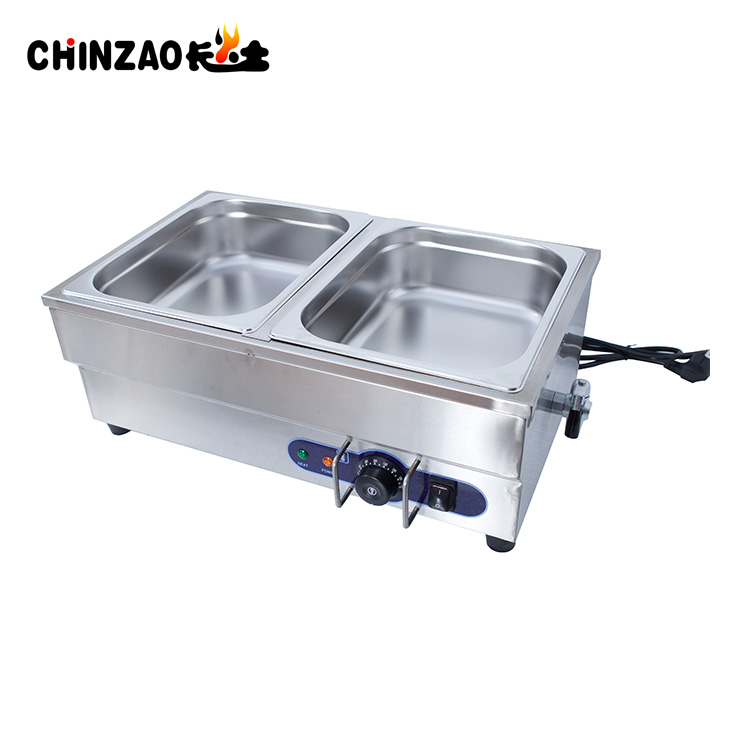 Hot Sale Commercial Table-Top Hot Food Warmer Bain Marie With 2 Pans