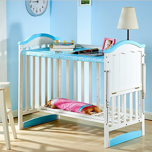 Table function new model solid wood baby doll cribs and beds/baby sleigh bed cribs