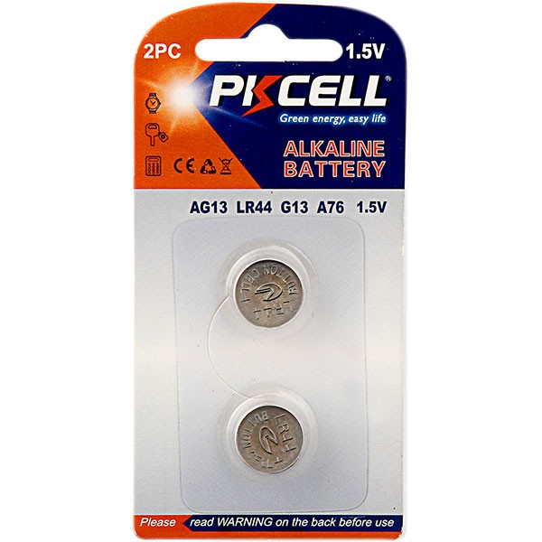 Coin Battery Type AG13 1.5V Alkaline Button Cell Battery LR44