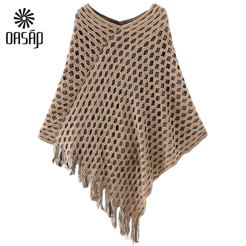 511cb75bdf45 Get Quotations · OASAP Korean Style Women 2015 Charming Knitted Cape Style  Pullover Sweater women fashion casual long sleeves
