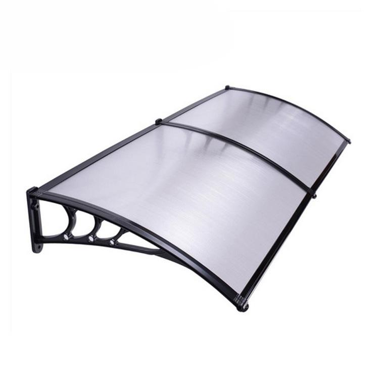 Outdoor Polycarbonate Rain Canopy Rain Awning for Window Garden Rain Shelter
