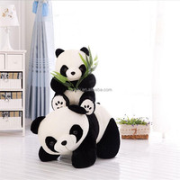 High quality lovely cartoon soft plush stuffed panda bear puppet doll toy for birthday gift