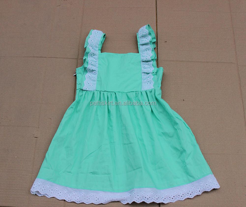 Simple summer children cotton baby girls frock ruffle pattern ...