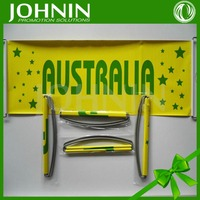 hot selling PET fan cheering custom size different countries hand banner