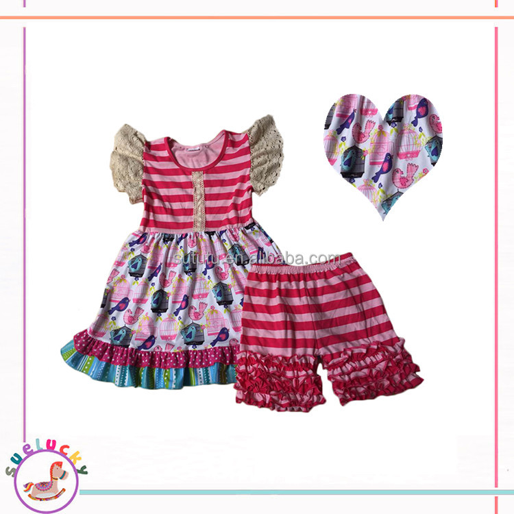 Baby Girls Ruffle Shorts Sets Clothes, Summer Ruffle Shorts Outfit Childrens boutique clothing sale