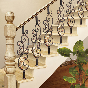 Luxury Removable Stair Handrail Good Quality Security Fence House Decor Wrought Iron Railing