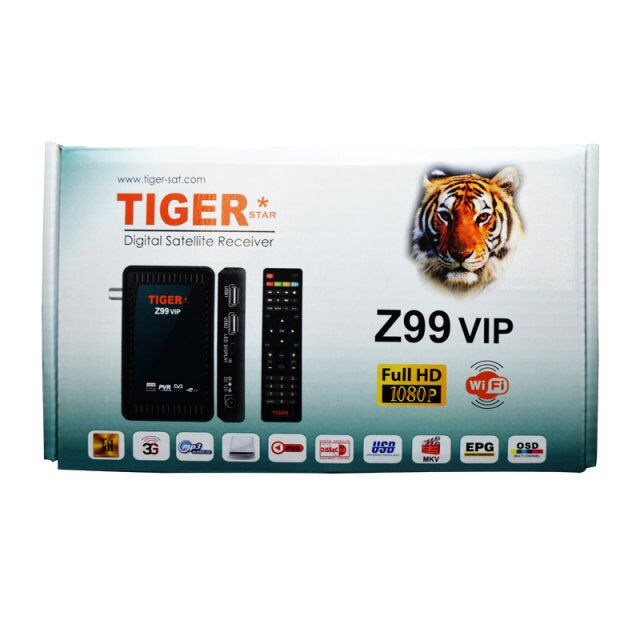 Tiger Star Z99 VIP digital <strong>satellite</strong> <strong>receiver</strong> free to air support <strong>FTA</strong> and Redcam
