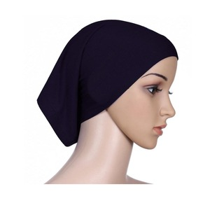 stock 20 colors cotton under headcover muslim inner hijab islamic underscarf tube caps for women