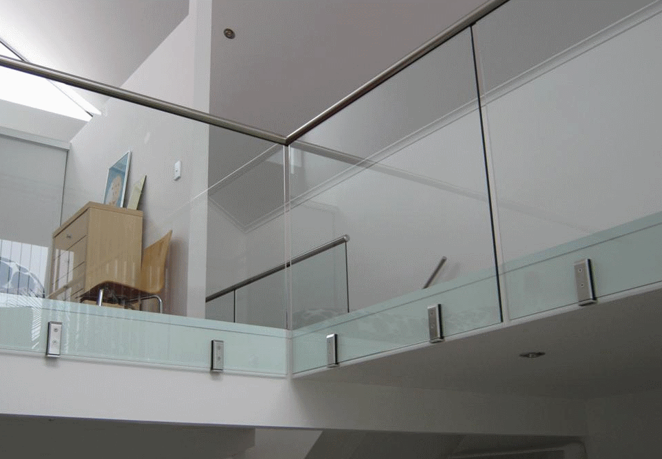 Indoor Side Mount Frameless Glass Balustrades By Spigot