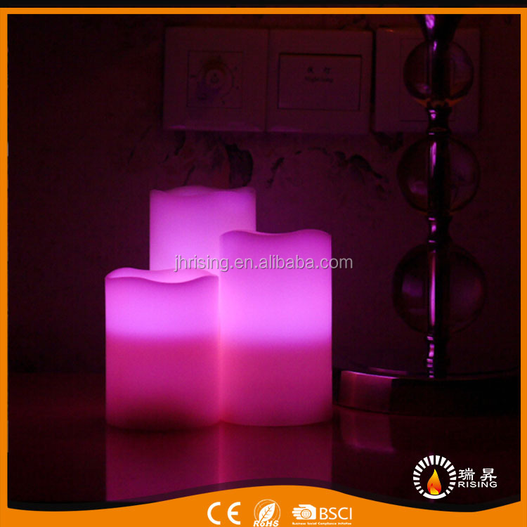 hot sell change color led candles decorative scented led flicker candle