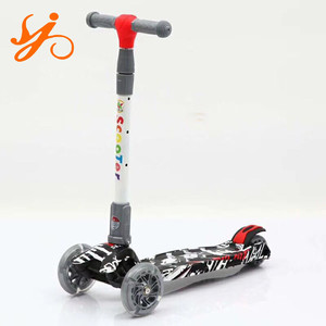 Hot sale Christmas kids gift good scooter 3 wheels / the best tri wheel scooter on sale / adjustable handlebars kick scooter