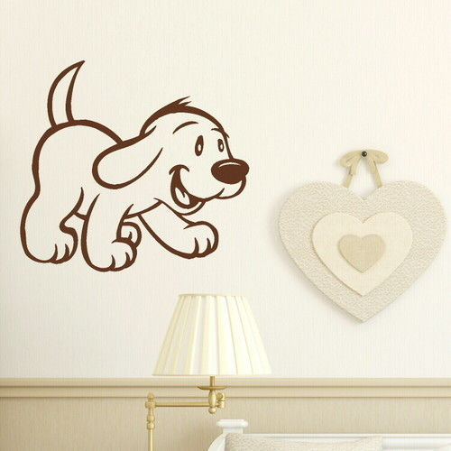 Cute Dog Wall Stickers decor sticker  Decor Wall Art Home Decal Animal Wallpaper Wall Poster
