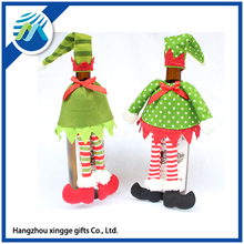 Cute Christmas Wine Bottle Cover For Table Decorations