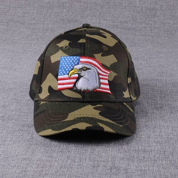 Camo Embroidery American Flag Baseball Cap Military Hat - Buy ... 933c027333c