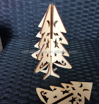 New 3d Wood Craft Diy Wood Tree Decoration Laser Cut Craft Buy Diy Wood Tree Decoration 3d Wood Craft Christmas Trees Laser Cut Craft Product On