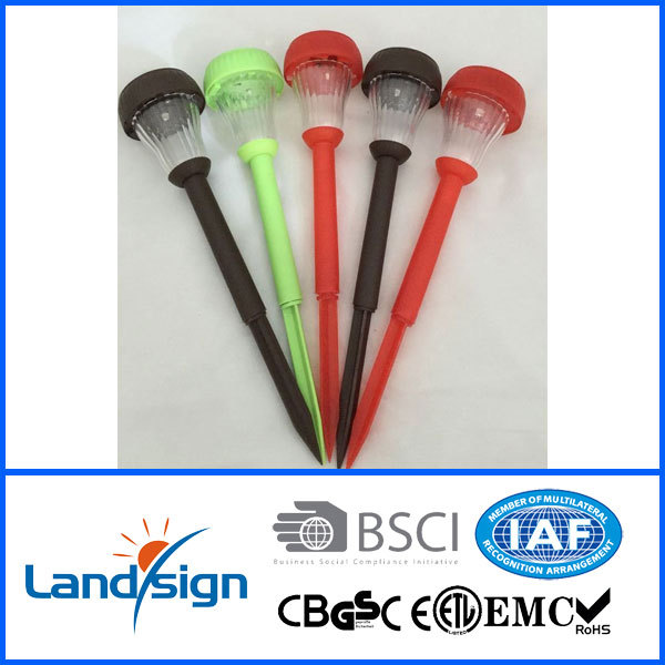 New product traffic signal pole decorate garden and yard solar plastic path light set XLTD-939