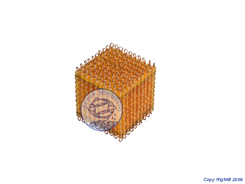 montessori equipment -Golden Bead Thousand Cube