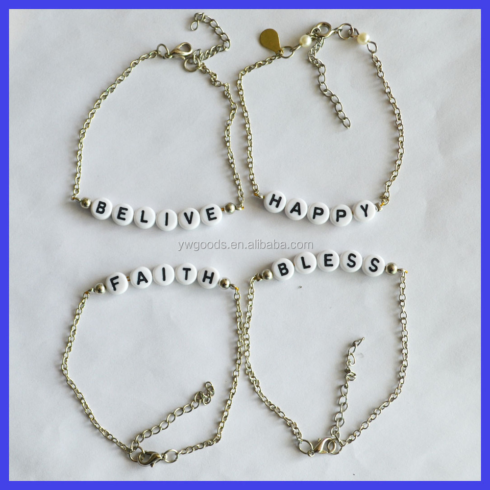 boutique bloomboutique product triple personalised letter by disc original bloom bracelet