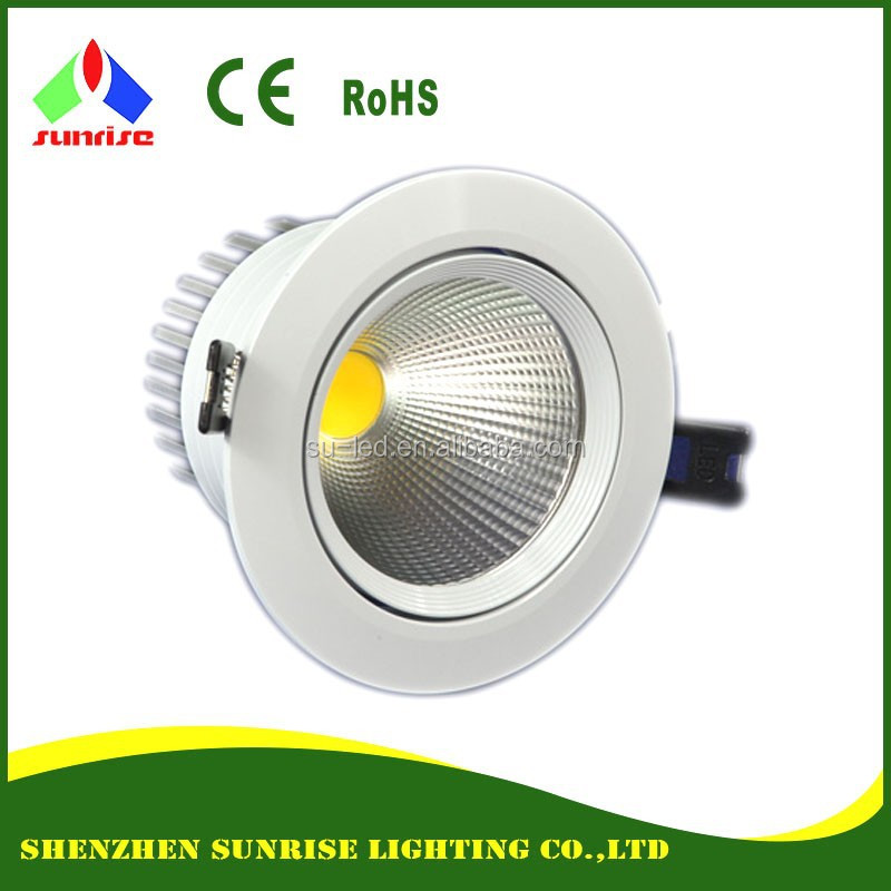 White case 3 years warranty top quality 10W COB LED <strong>downlights</strong>