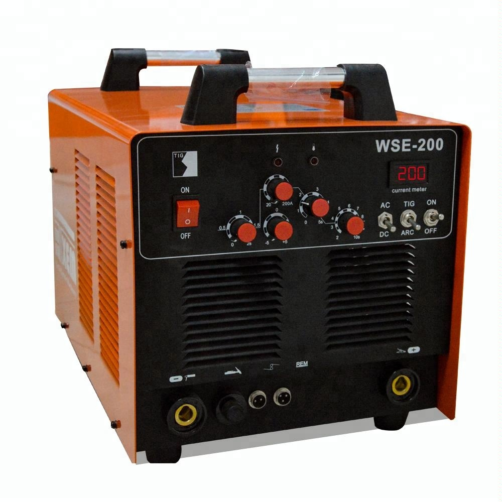 WSE-200 cheap tig welder ac dc pulse 200 electric inverter <strong>welding</strong> in argon for aluminum sale