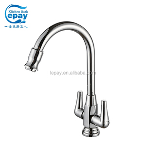One Piece Csa Gooseneck Two Handle High Spout Kitchen Sink Faucet