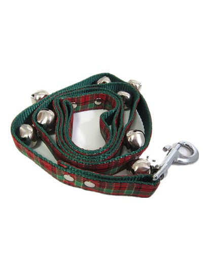 Christmas pet luxury dog collar with dog leash and pet bell