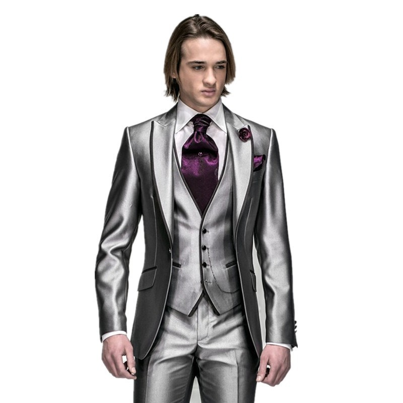Cheap Silver Grey Wedding Suits Men, find Silver Grey Wedding Suits ...