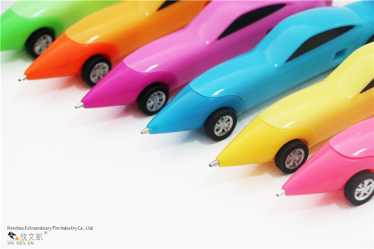 Cheap Creative Stationery Kids Cartoon Ballpoint Pen Plastic Novelty Car Pen