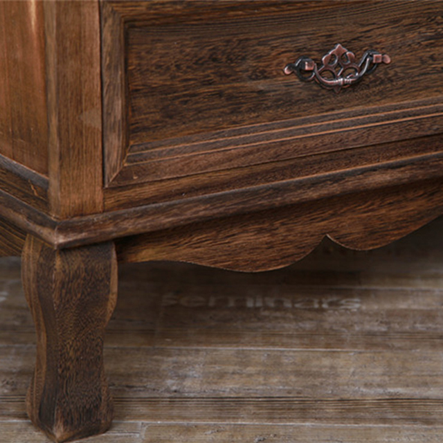 Chinese Style Furniture Wood Bedside Table with Drawer Bedside Cabinet