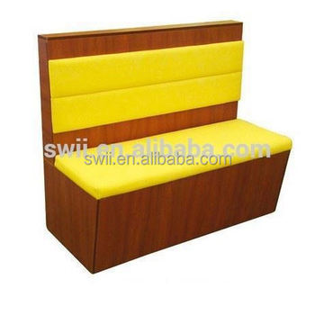 Simple Wooden Sofa Set Design Leather Restaurant Booth