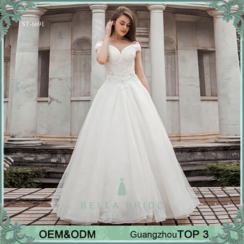 Alibaba Online Store Hot Sale Custom Size Big Boobs Wedding Dress