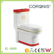 Chaozhou Manufacturer Hot Sale Sanitary Ware Ceramic 4 Inch Outlet One Piece Color Toilet Bowl WC Toilet