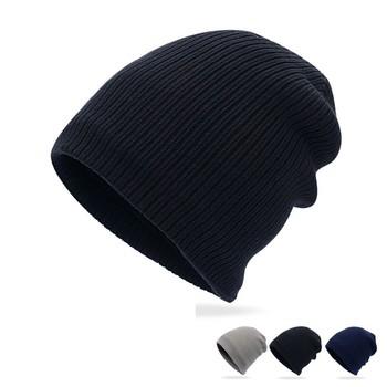 New Men Women Fashion knit Baggy Beanie Oversize Winter Hat Ski Slouchy Cap  with fleece lining 50575dbc22a