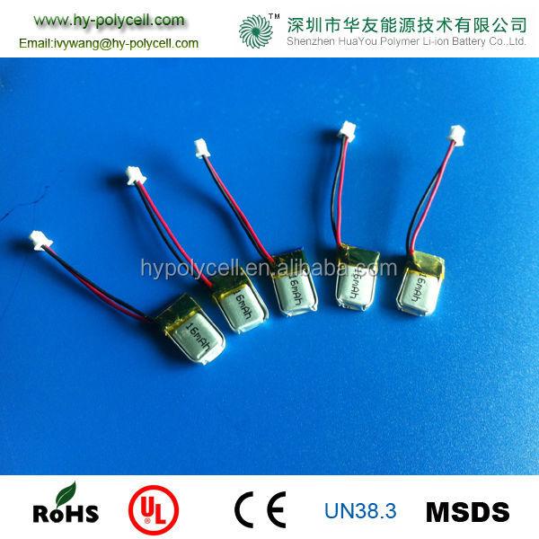 3.7v 031015 16mah Ultra-mini Lithium Polymer Battery