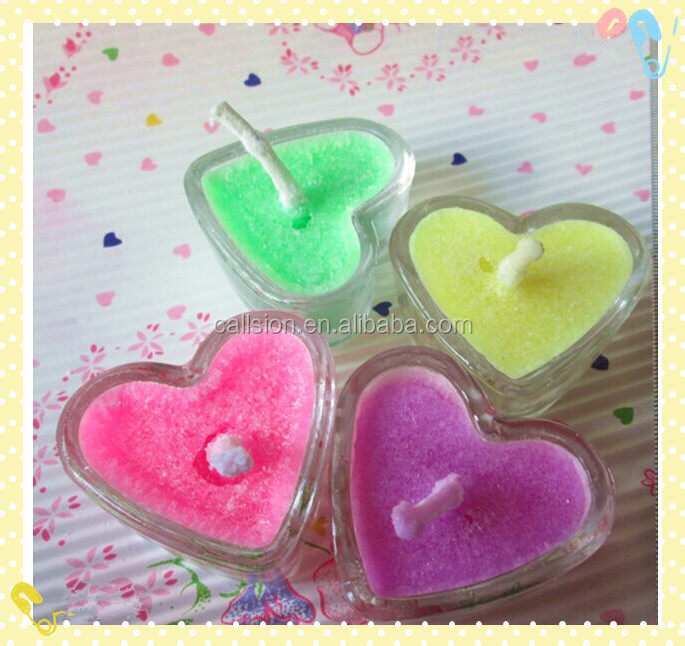 unique small heart shaped candles